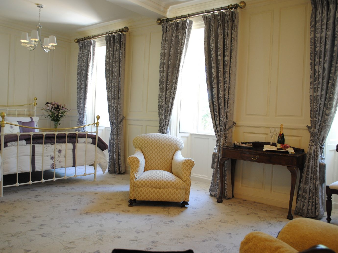 europe Hotels Ireland indoor wall floor room Living living room property interior design curtain window window treatment textile window covering furniture home Suite real estate ceiling Bedroom estate flooring decor interior designer window blind decorated