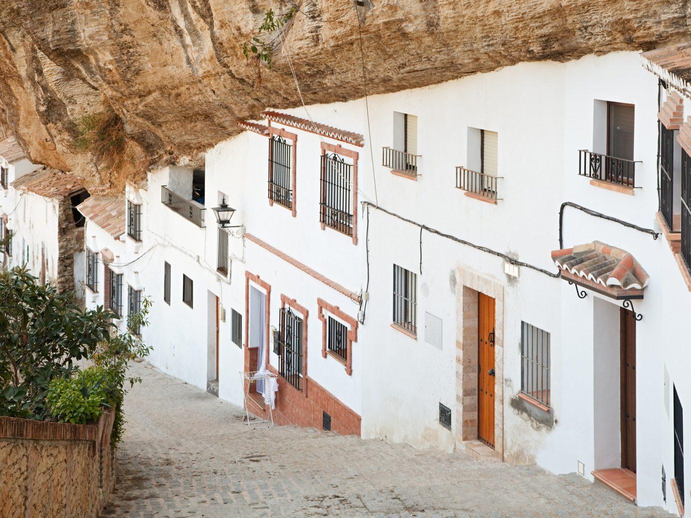 europe Spain Trip Ideas Town neighbourhood house alley window facade sky building street tourism Village