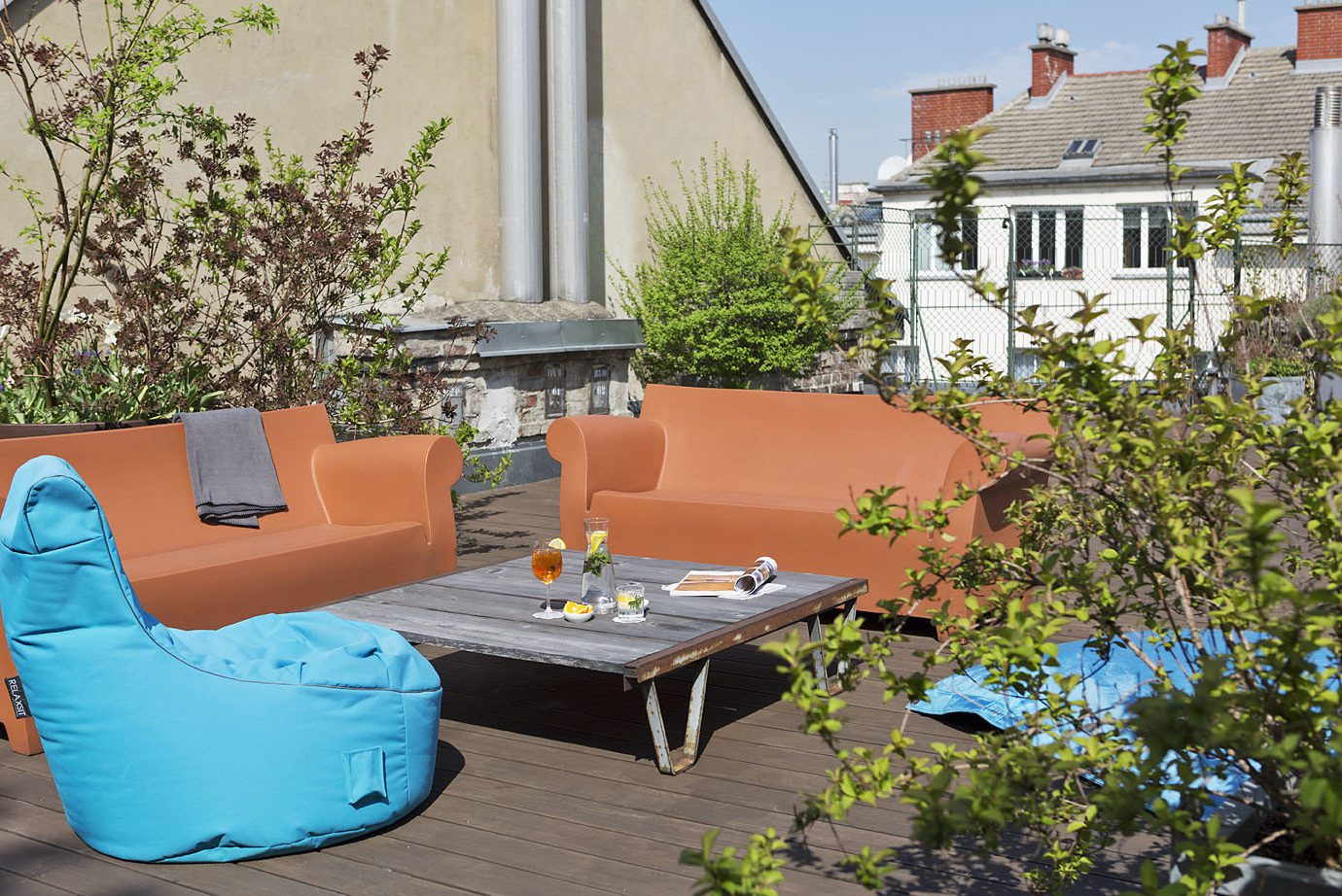 Austria europe Hotels Vienna backyard Patio furniture table yard outdoor furniture home outdoor structure Garden real estate Courtyard plant Balcony sunlounger house chair landscaping interior design