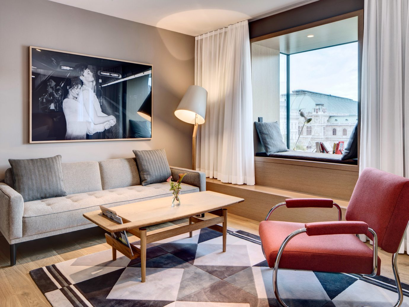 Austria europe Hotels Vienna floor indoor room Living window living room chair interior design Suite furniture real estate interior designer table penthouse apartment apartment ceiling area