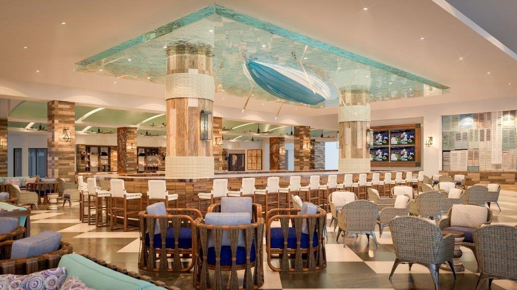 All-Inclusive Resorts caribbean Family Travel Hotels indoor interior design restaurant ceiling Lobby real estate Resort estate furniture