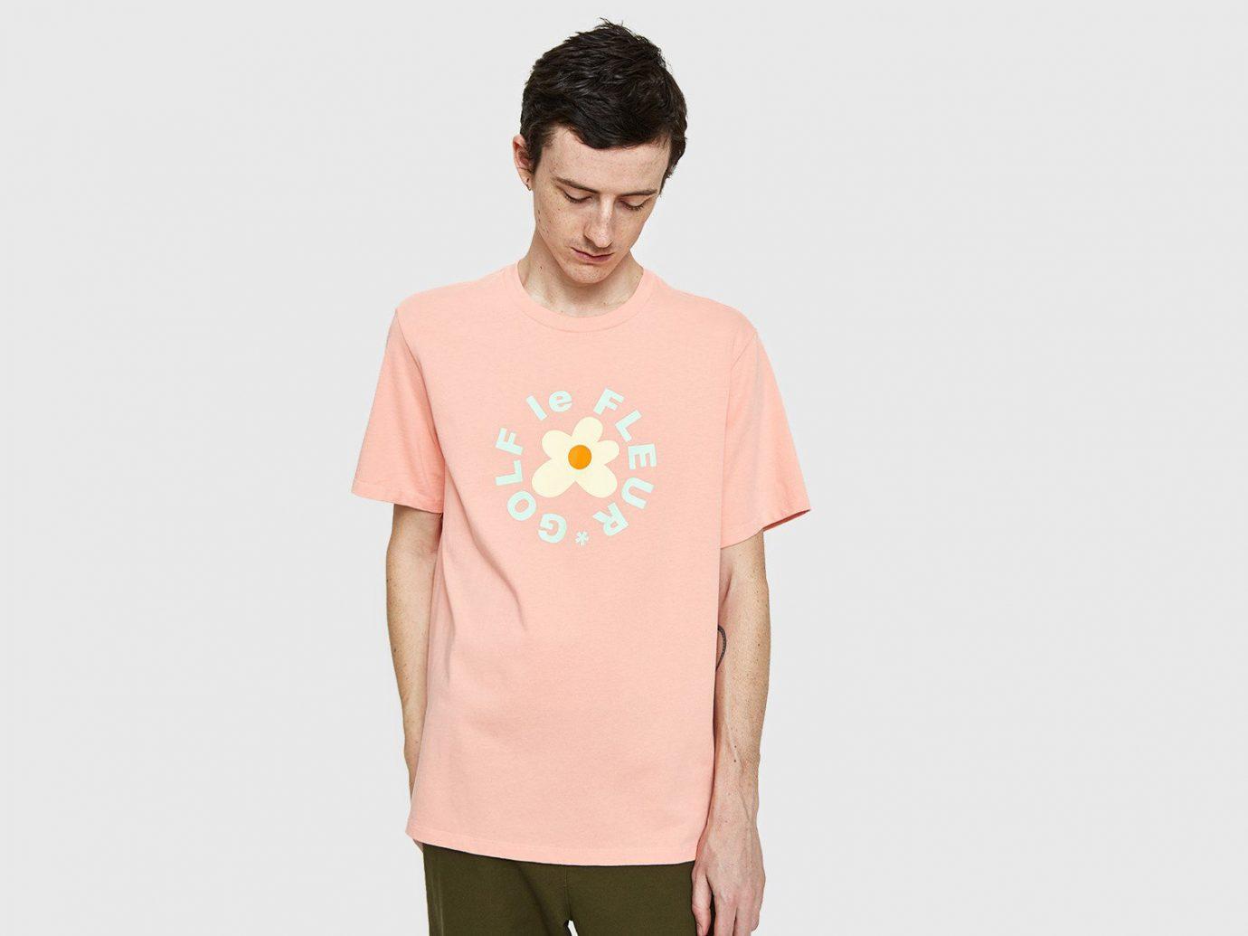 Spring Travel Style + Design Summer Travel Travel Shop t shirt clothing pink sleeve shoulder neck joint peach top pattern beige