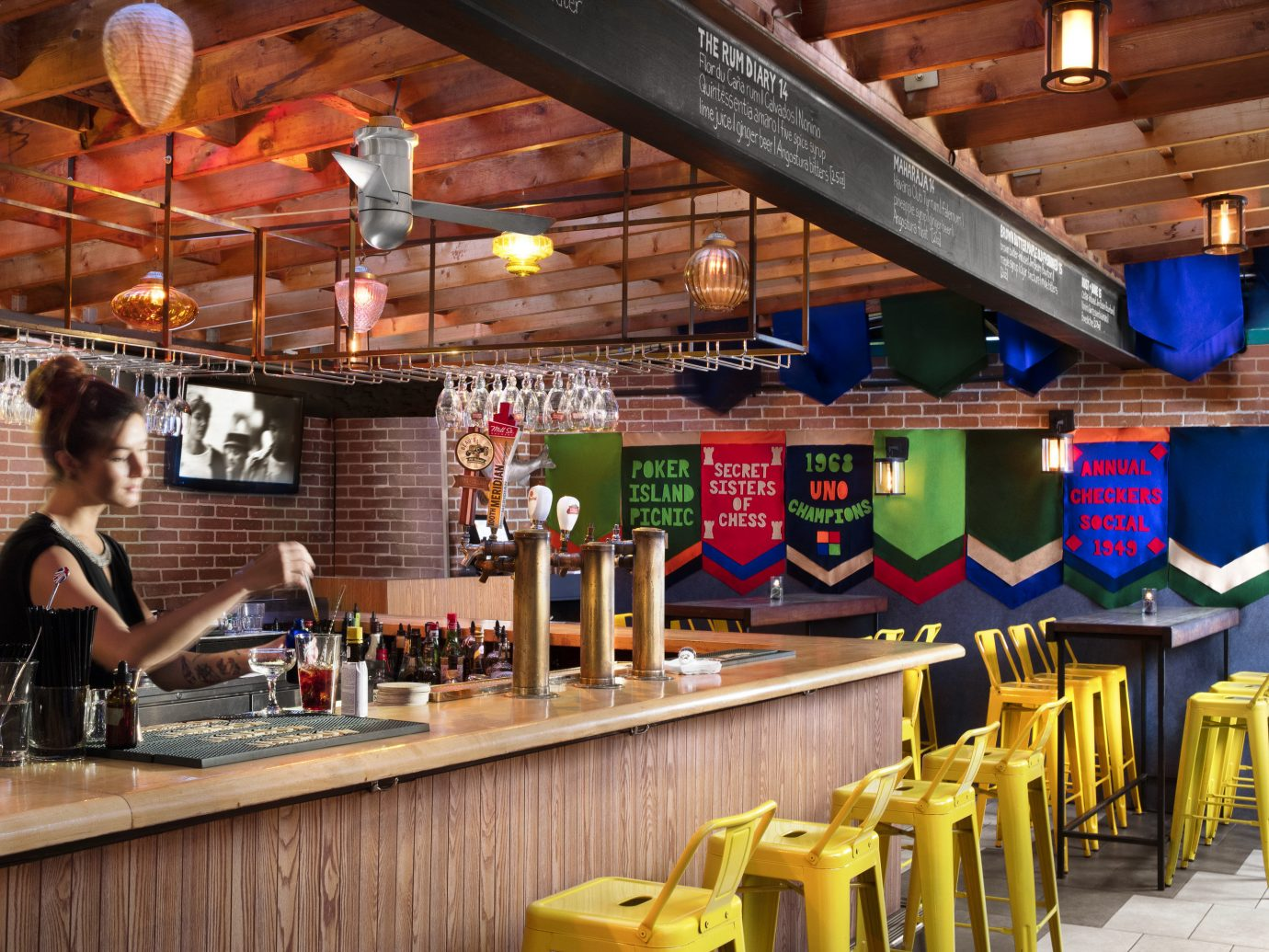 Canada Hotels Toronto indoor table ceiling restaurant Bar interior design counter fast food restaurant café tavern cafeteria Drink pub