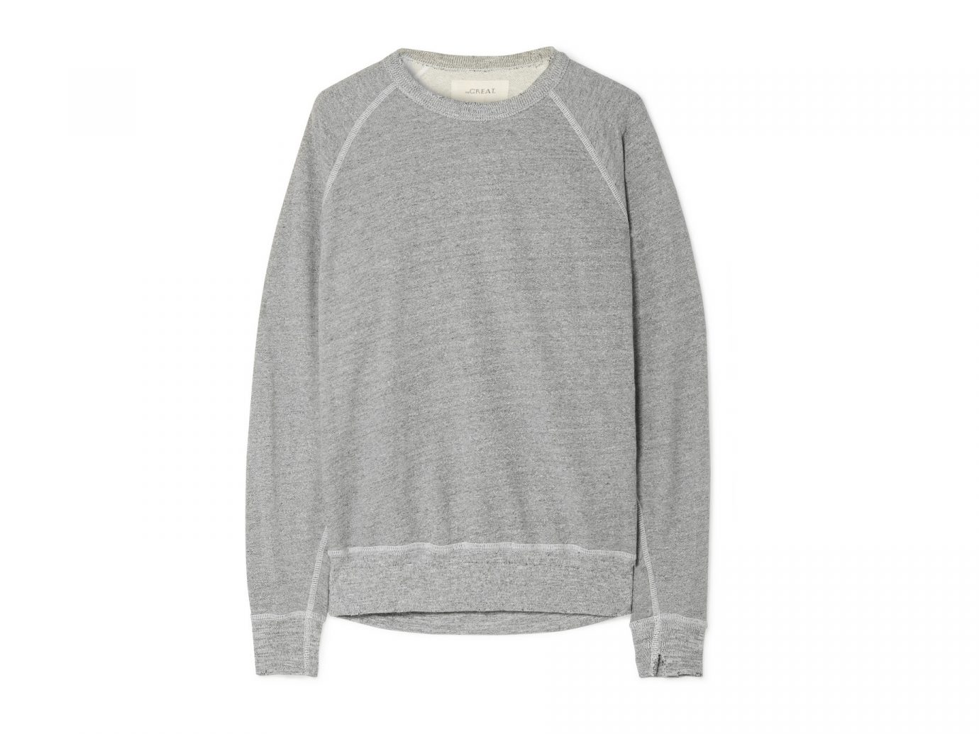 best sweatshirts, The Great The College distressed cotton-blend jersey sweatshirt