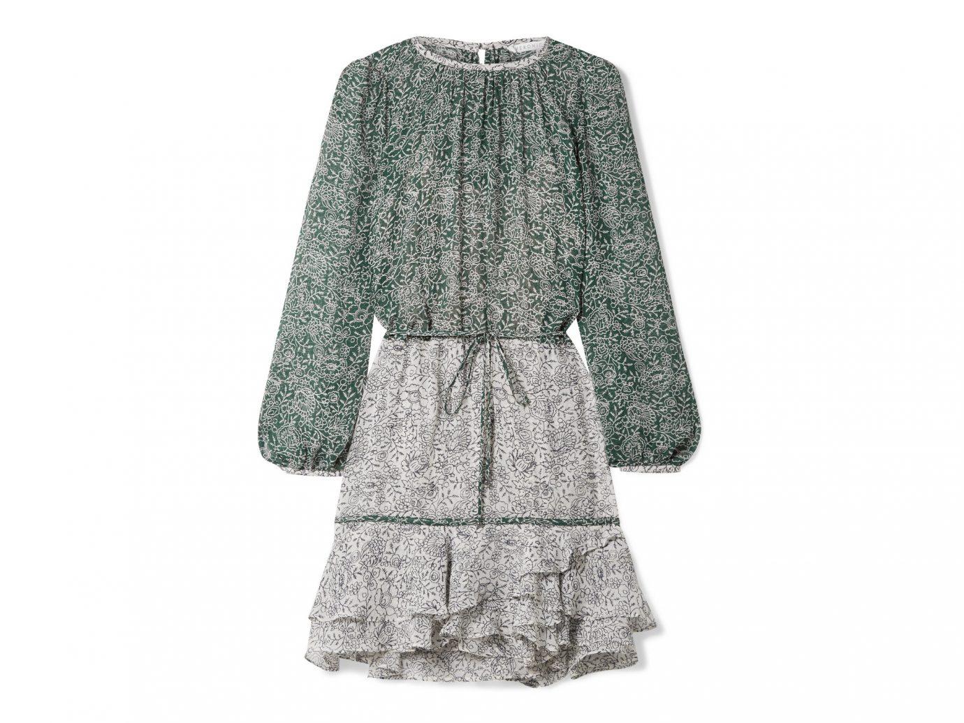 Veronica Beard Dorado ruffle floral-print silk-chiffon mini dress