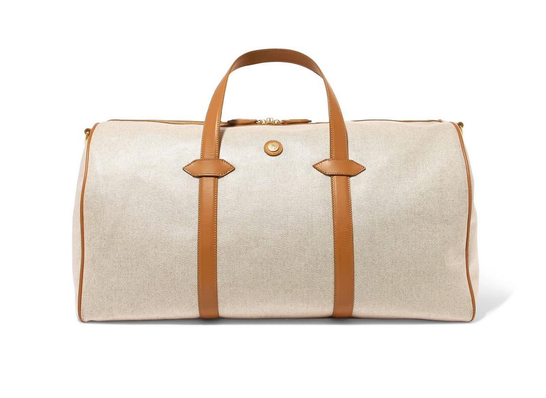 Best Weekend Bags Paravel Main Line Duffel leather-trimmed printed canvas weekend bag