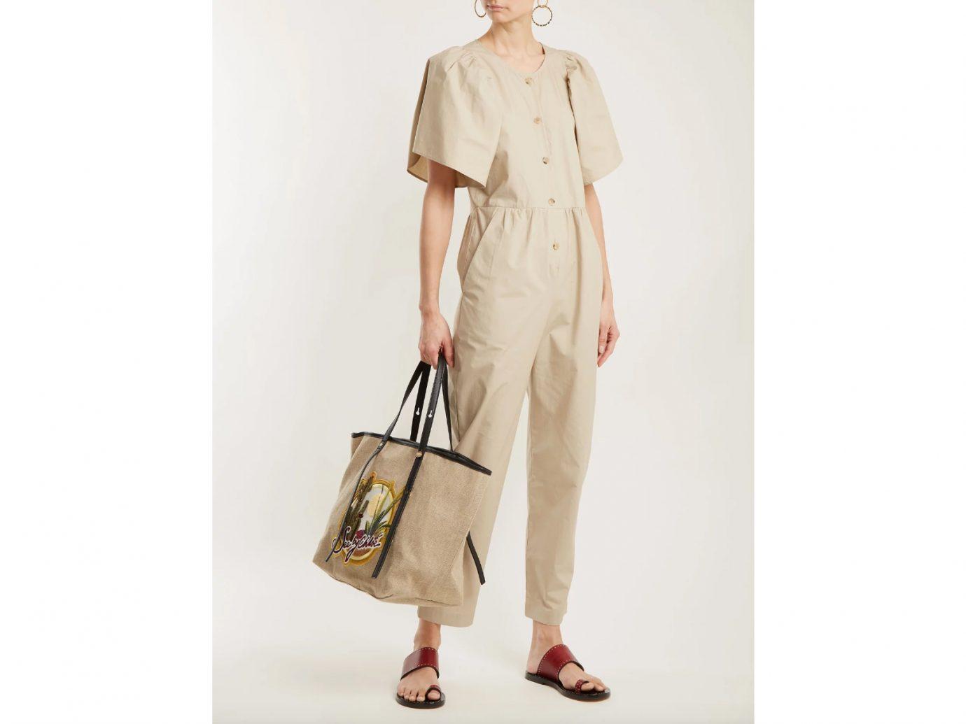 Masscob puff sleeve high-rise button down cotton jumpsuit, Best Jumpsuits for summer
