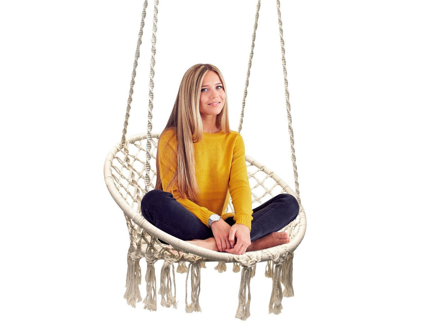 Sorbus Macrame Hanging Chair