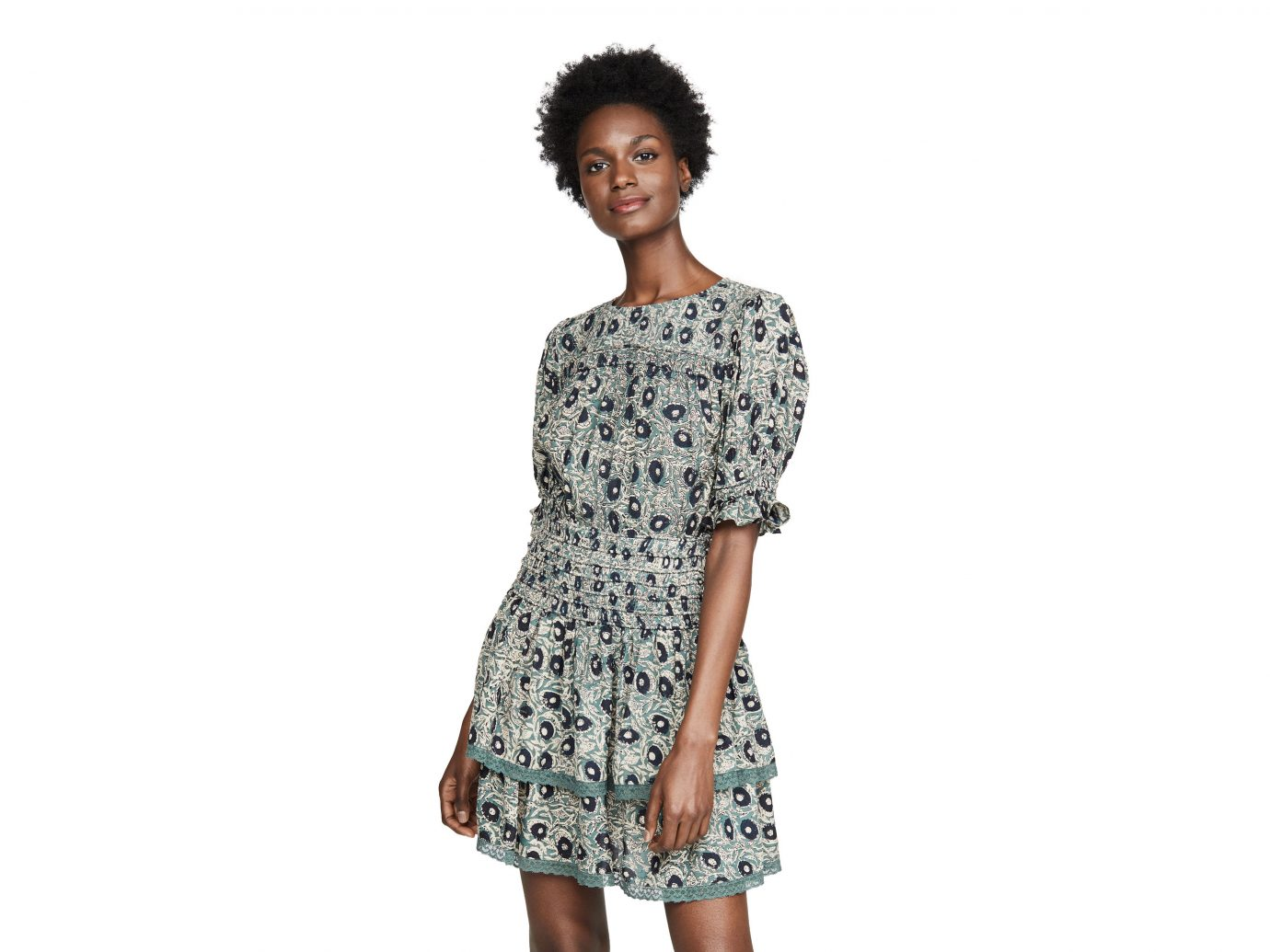 Sea Lucia Smocked Mini Dress