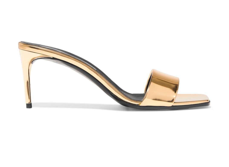 Stella McCartney Faux mirrored-leather mules