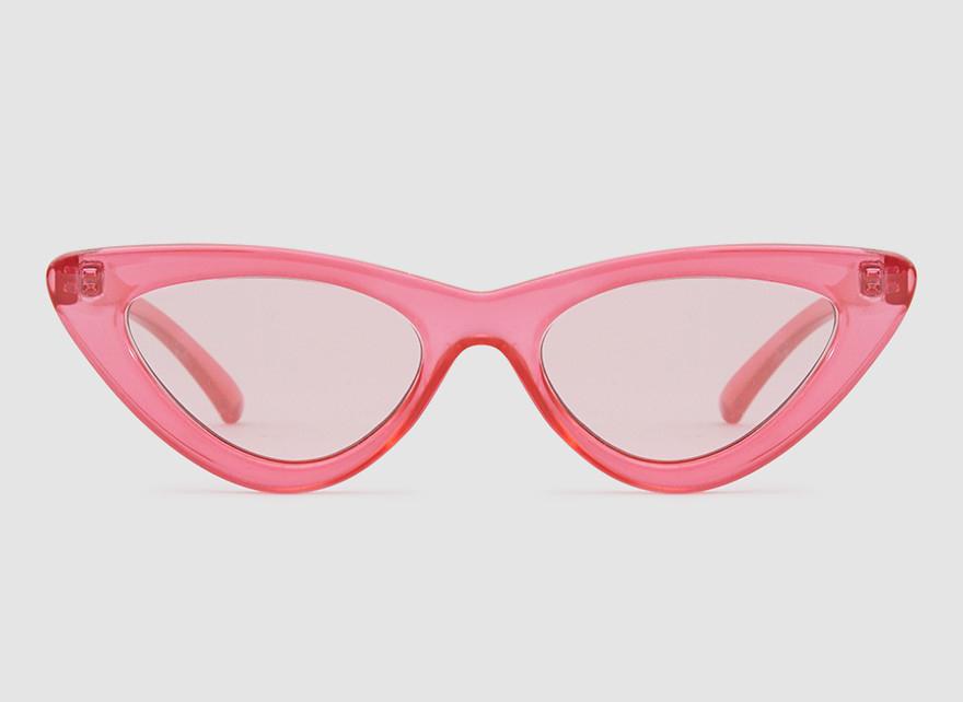 Adam Selman x Le Specs The Last Lolita in Red/Silver Mirror