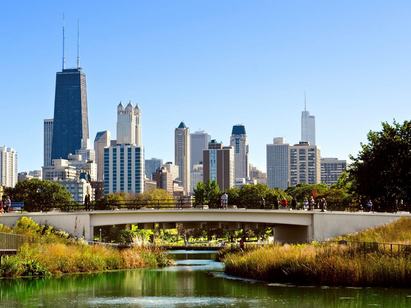 Bridge in Lincoln Park Neighborhood of Chicago