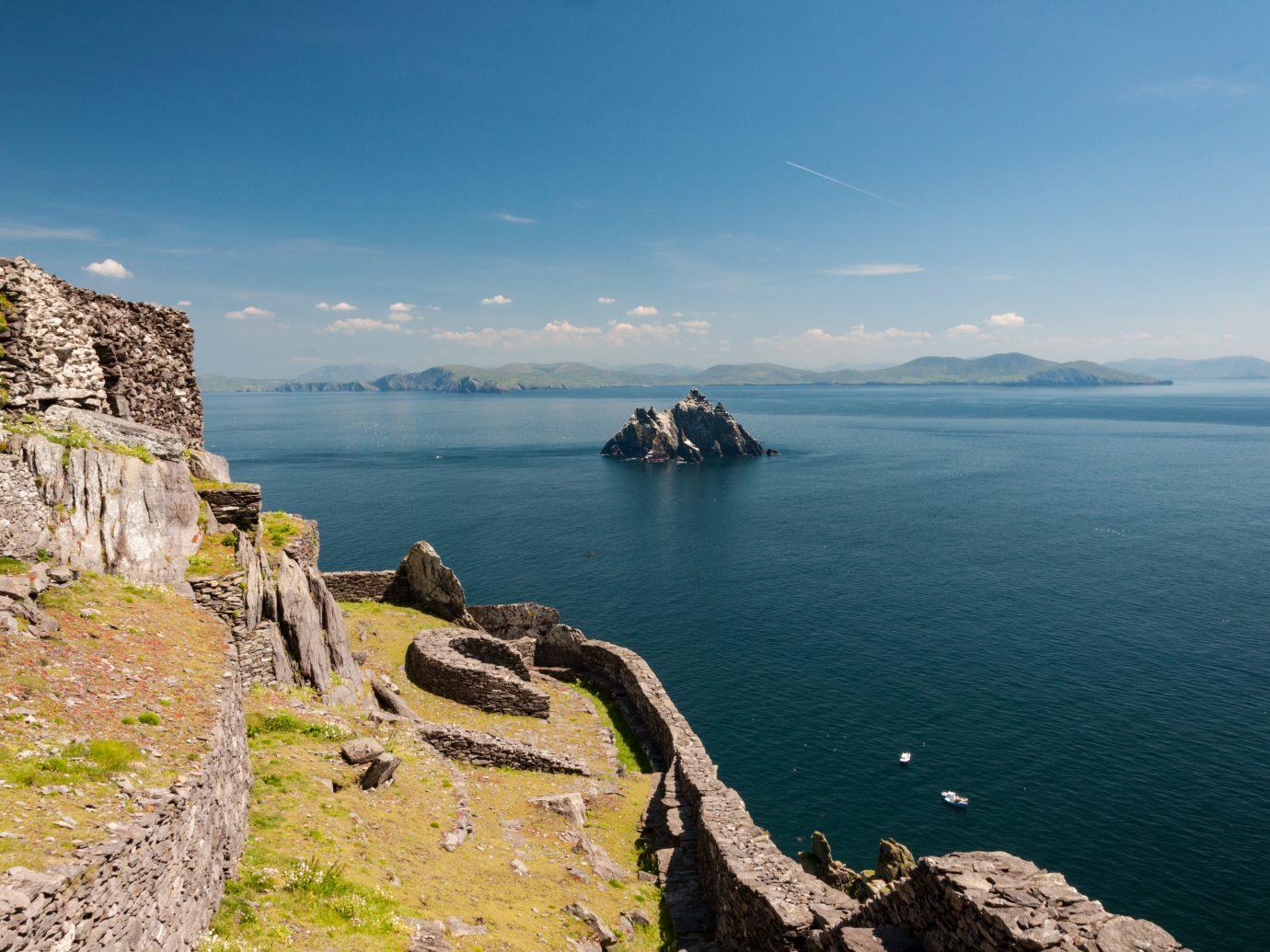 Skellig Michael, UNESCO World Heritage Site, Kerry, Ireland. Star Wars The Force Awakens Scene filmed on this Island. wild atlantic way