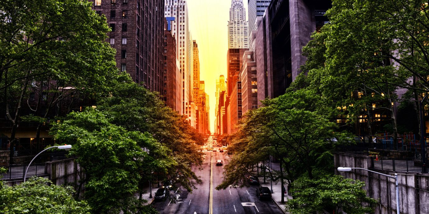 Street view in New York City