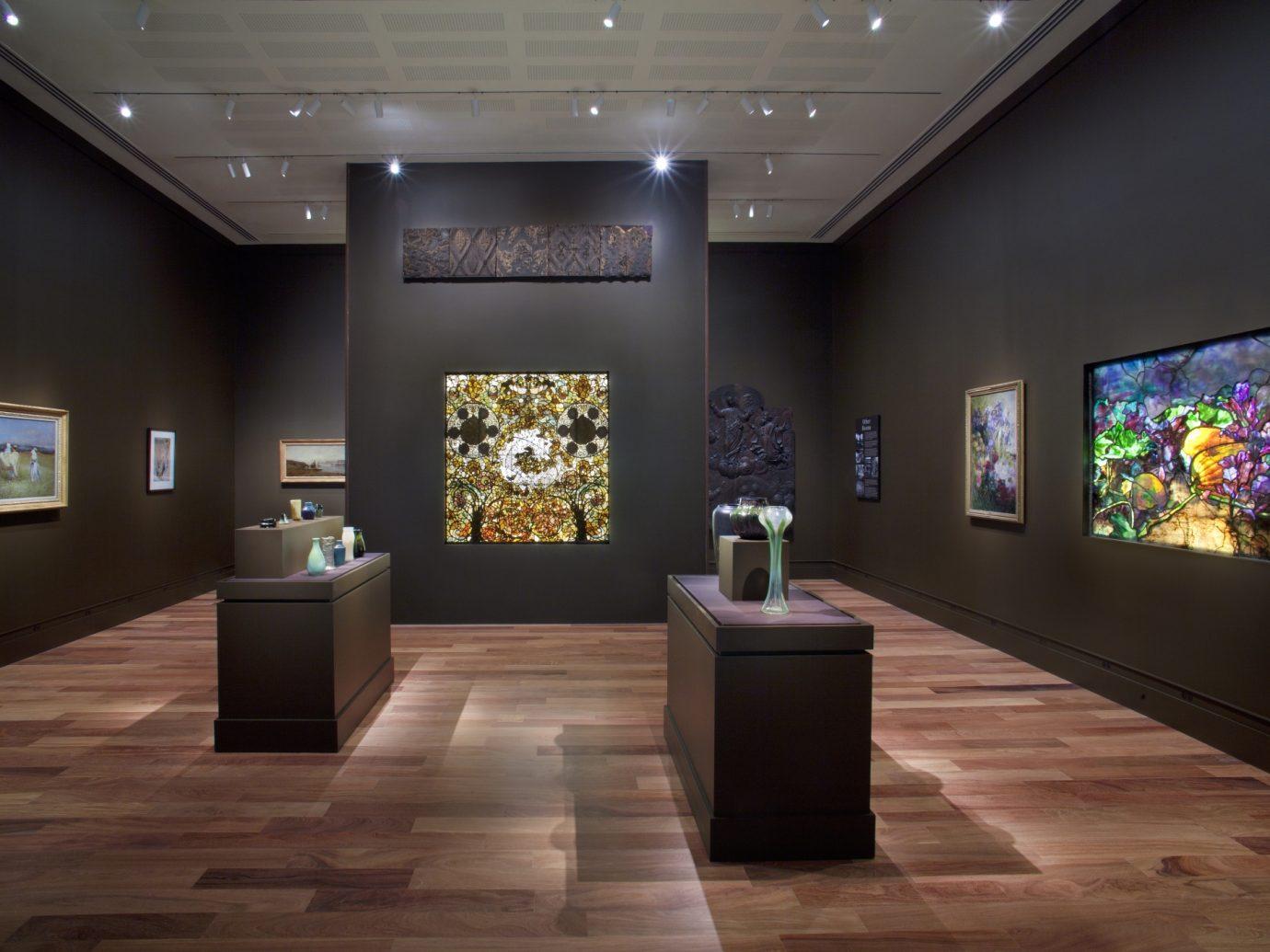 gallery hall at Charles Hosmer Morse Museum of American Art
