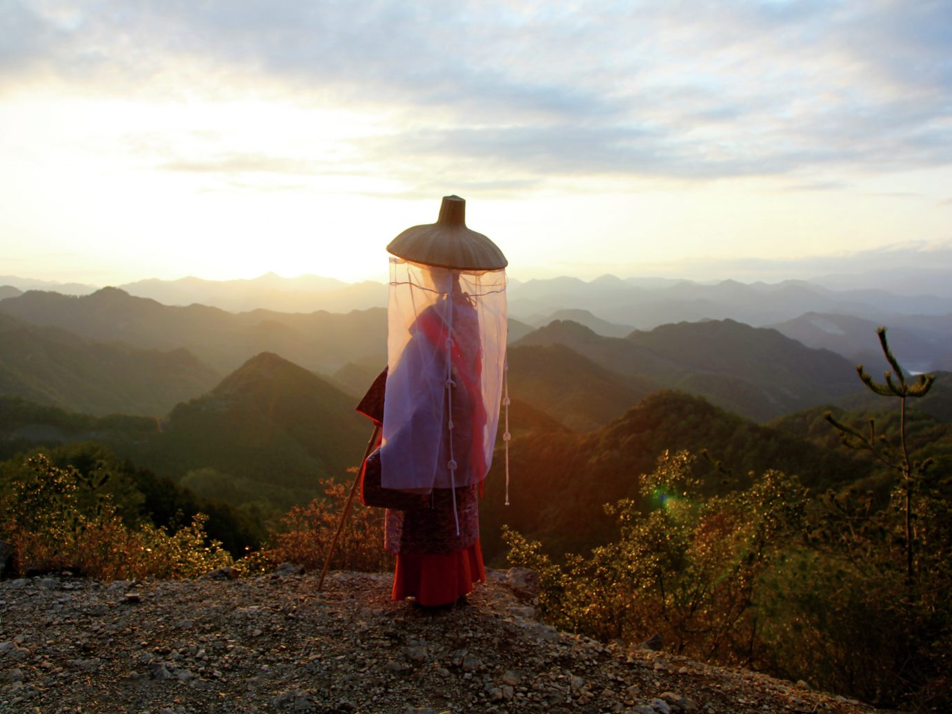 woman on top of mountain, REI Adventures Japan Hiking – Kumano Kodo & Nakasendo