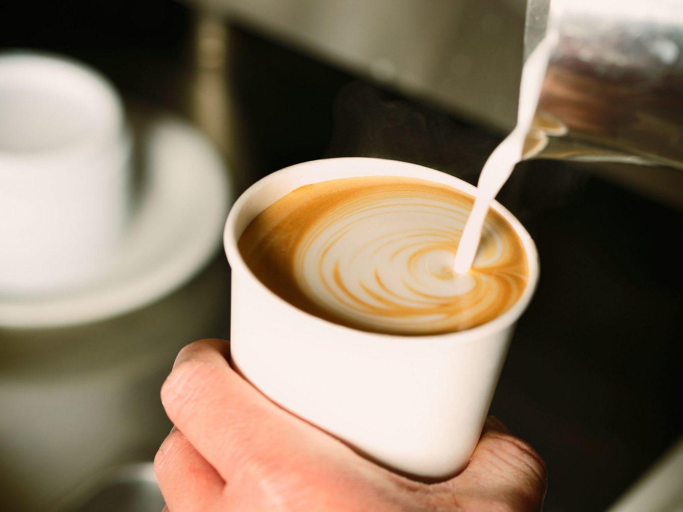 Latte at a cafe