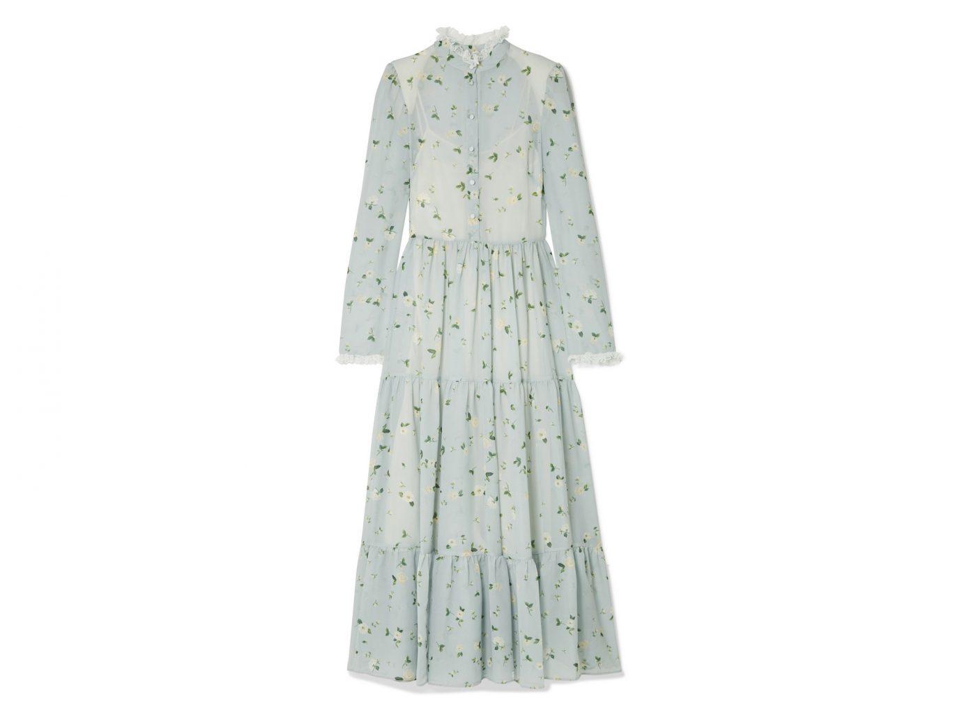 Philosophy di Lorenzo Serafini Lace trimmed floral print chiffon dress