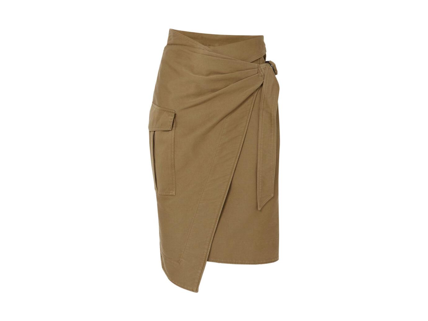 ISABEL MARANT ÉTOILE Giulia cotton-twill wrap skirt
