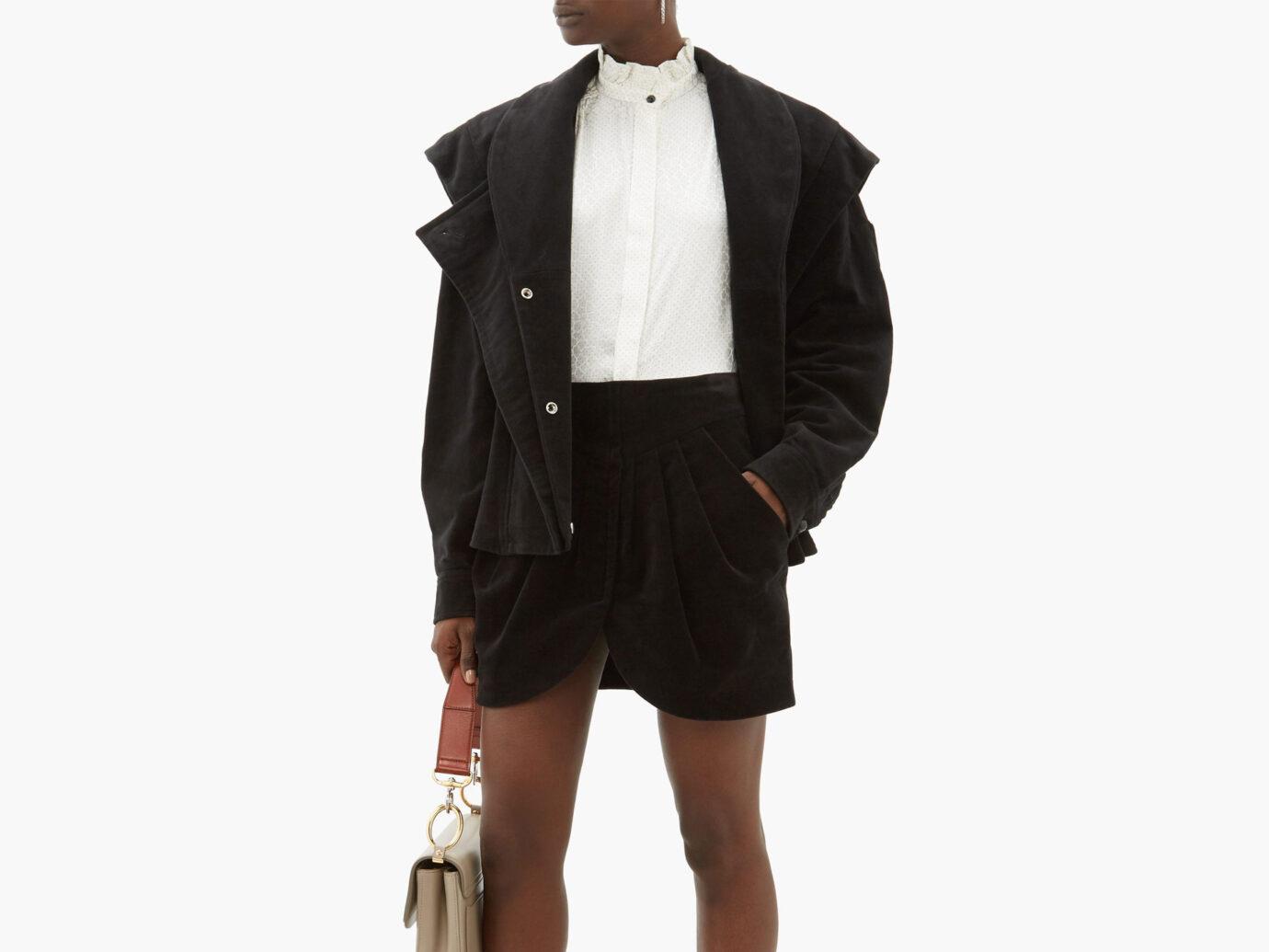 Isabel Marant Dina double-breasted cotton-moleskin jacket