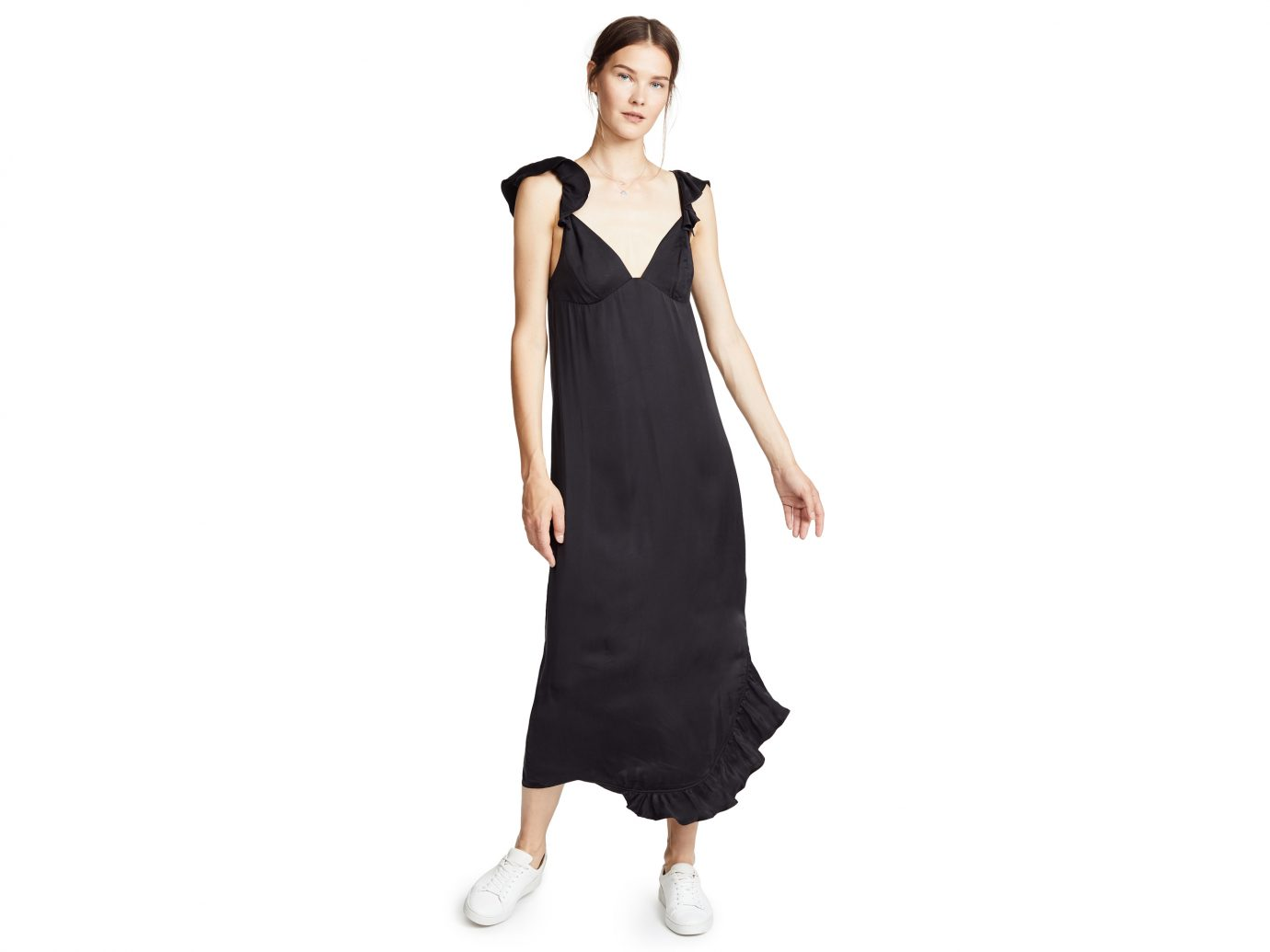 7 For All Mankind Ruffled Slip Dress