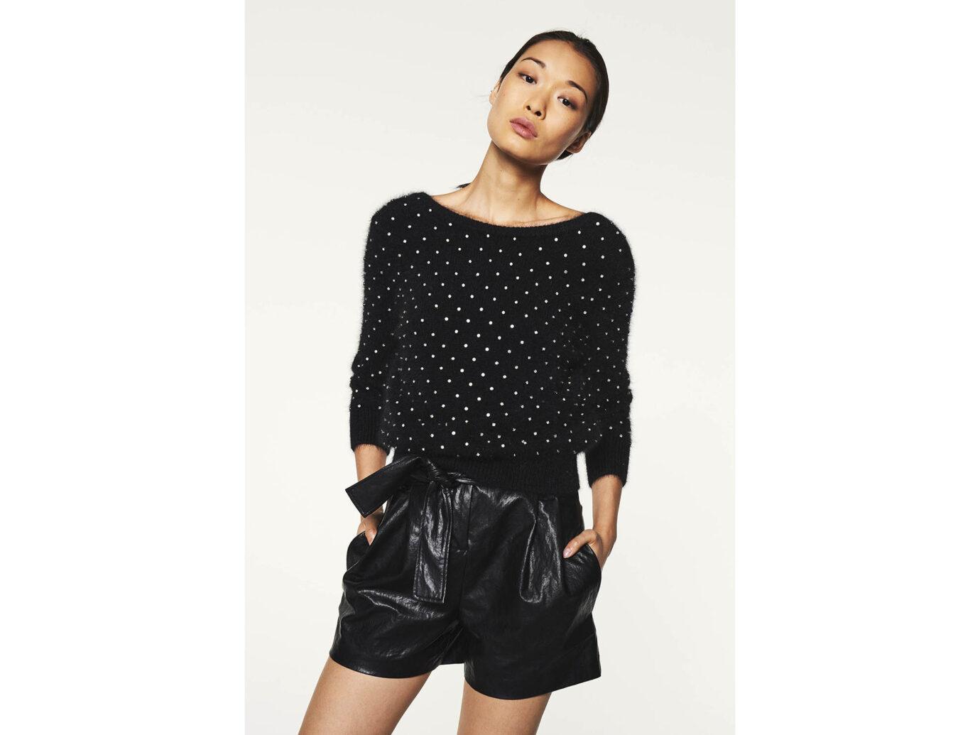 Ba&sh Amby Noir Sweater