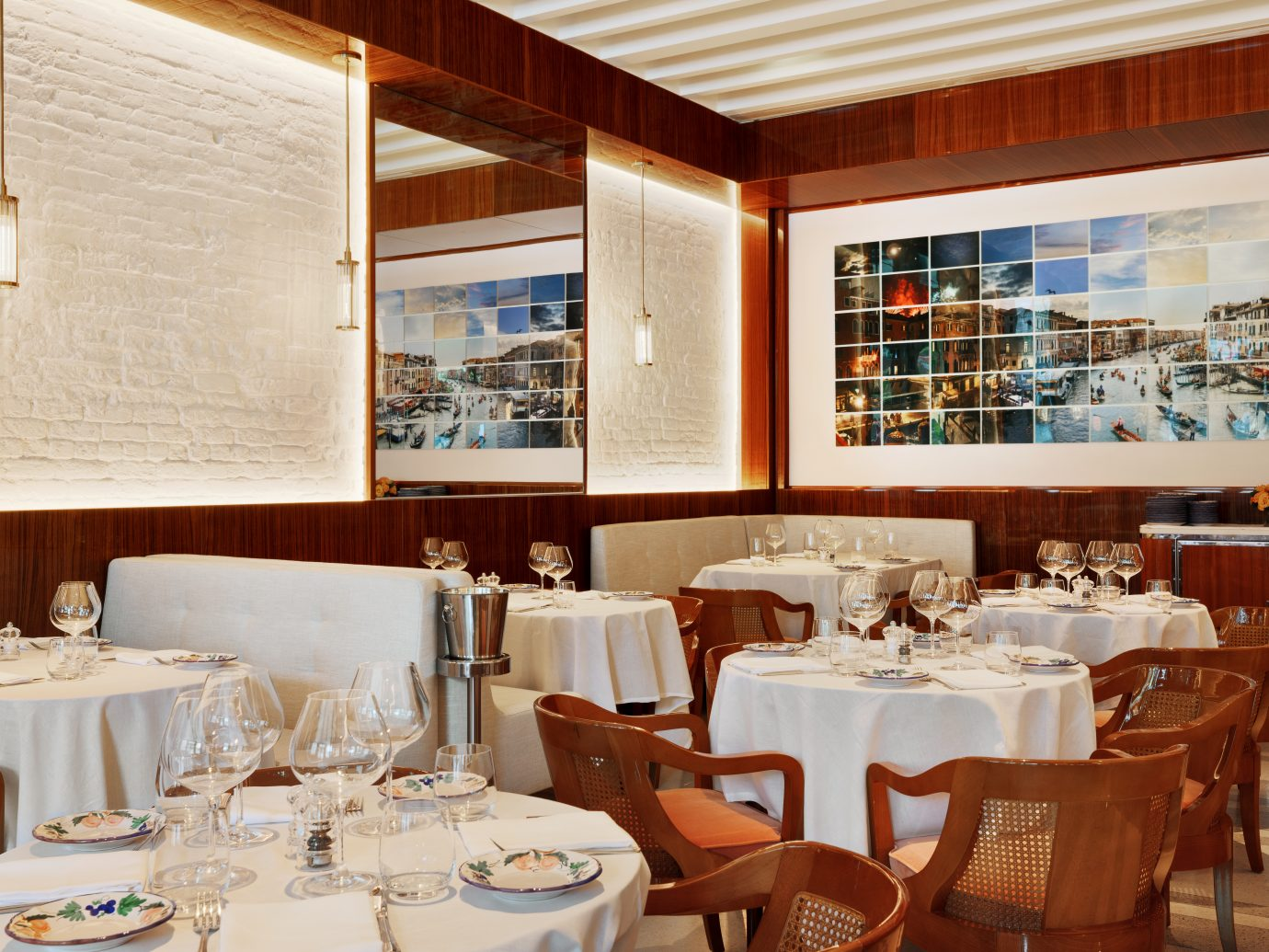 tables and interior at Bellini