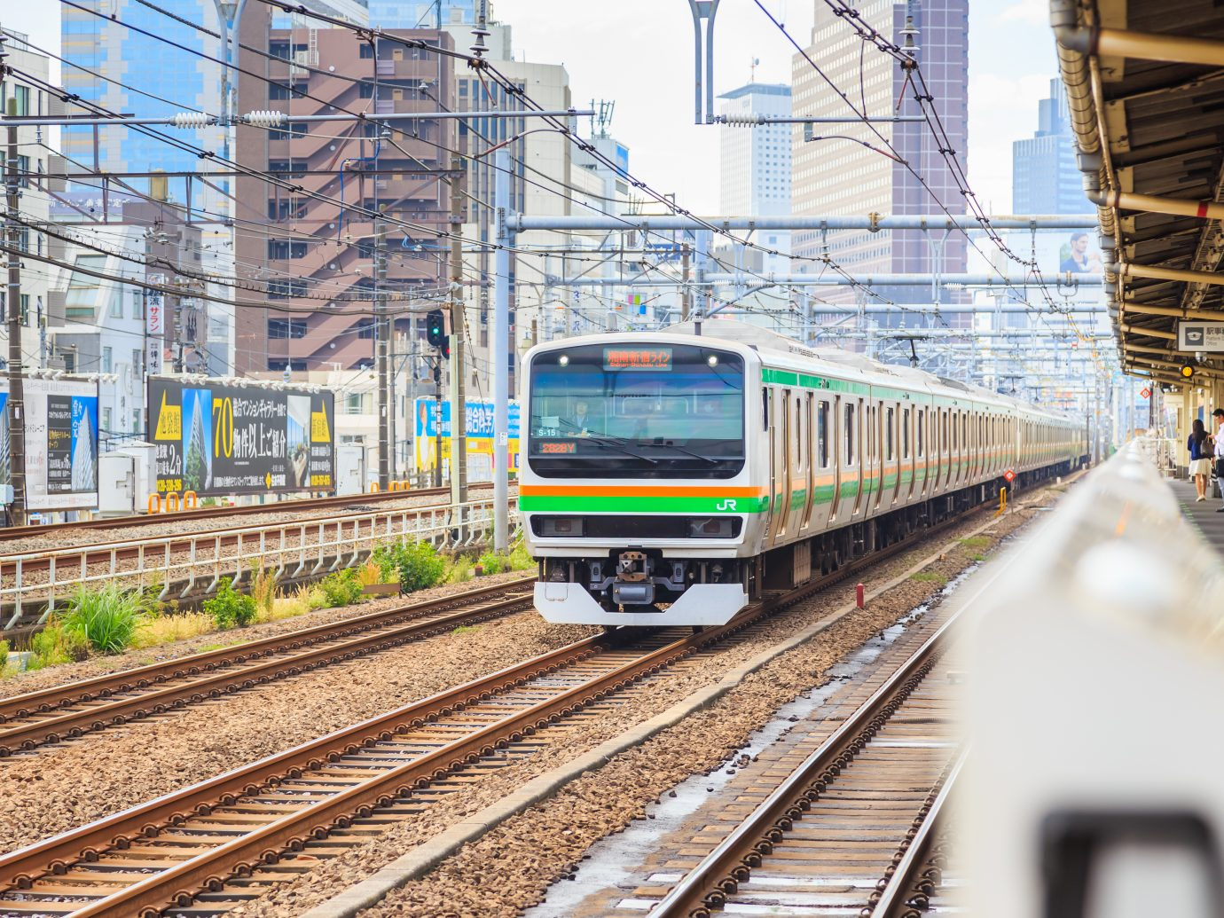 Tokyo, Japan - October 18, 2016 - JR train Yamanote line is the main transportation of people in Tokyo Japan