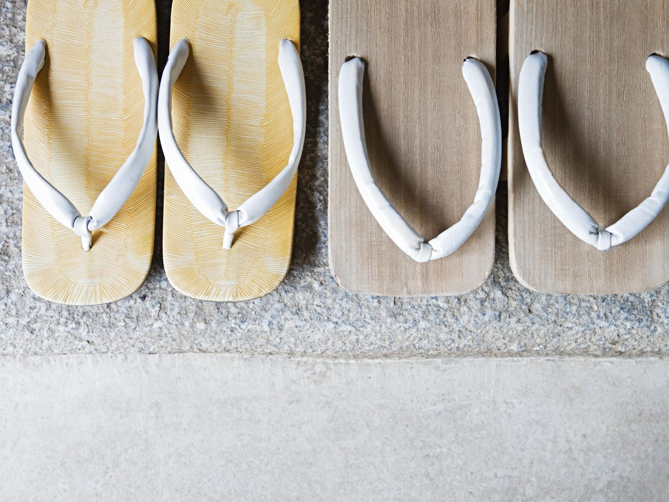 Two pairs of geta sandals