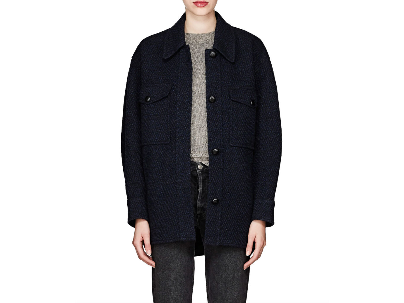 Isabel Marant Étoile Garvey Wool-Blend Shirt Jacket