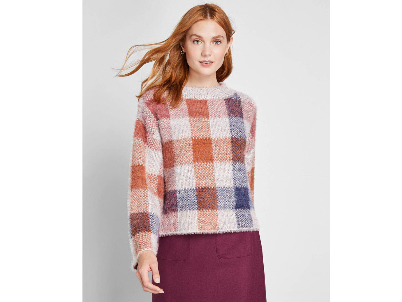 Modcloth Warm Affection Fuzzy Pullover Sweater