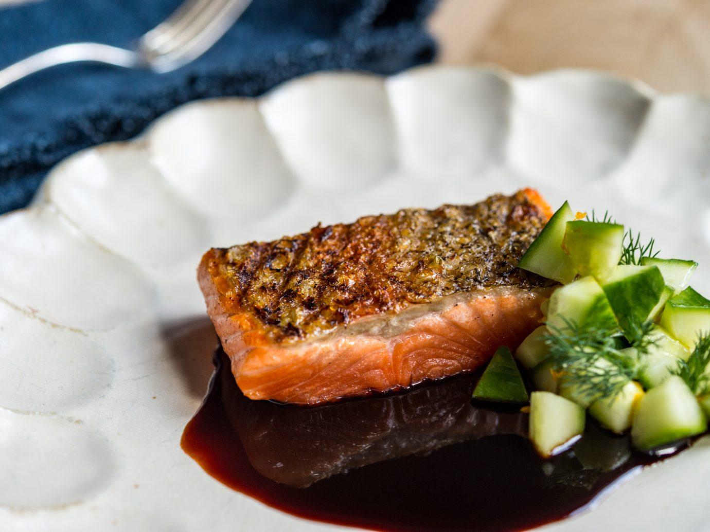 Salmon In Sauce Meurette at La Mercerie