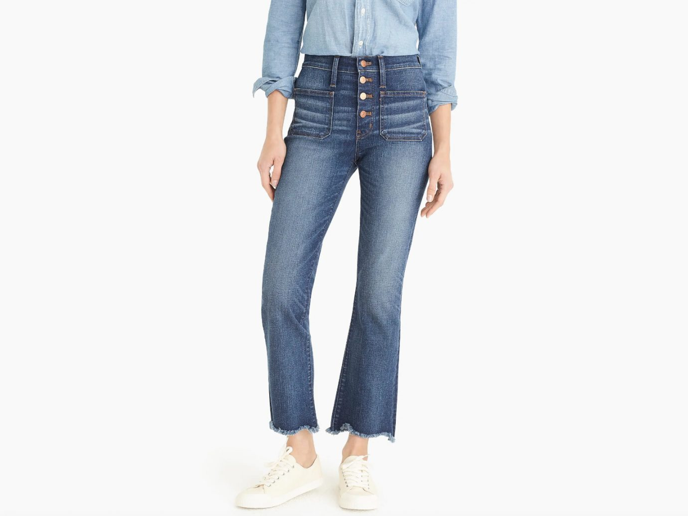 """10"""" High-Rise Demi-Boot Jean with Buttonfly"""