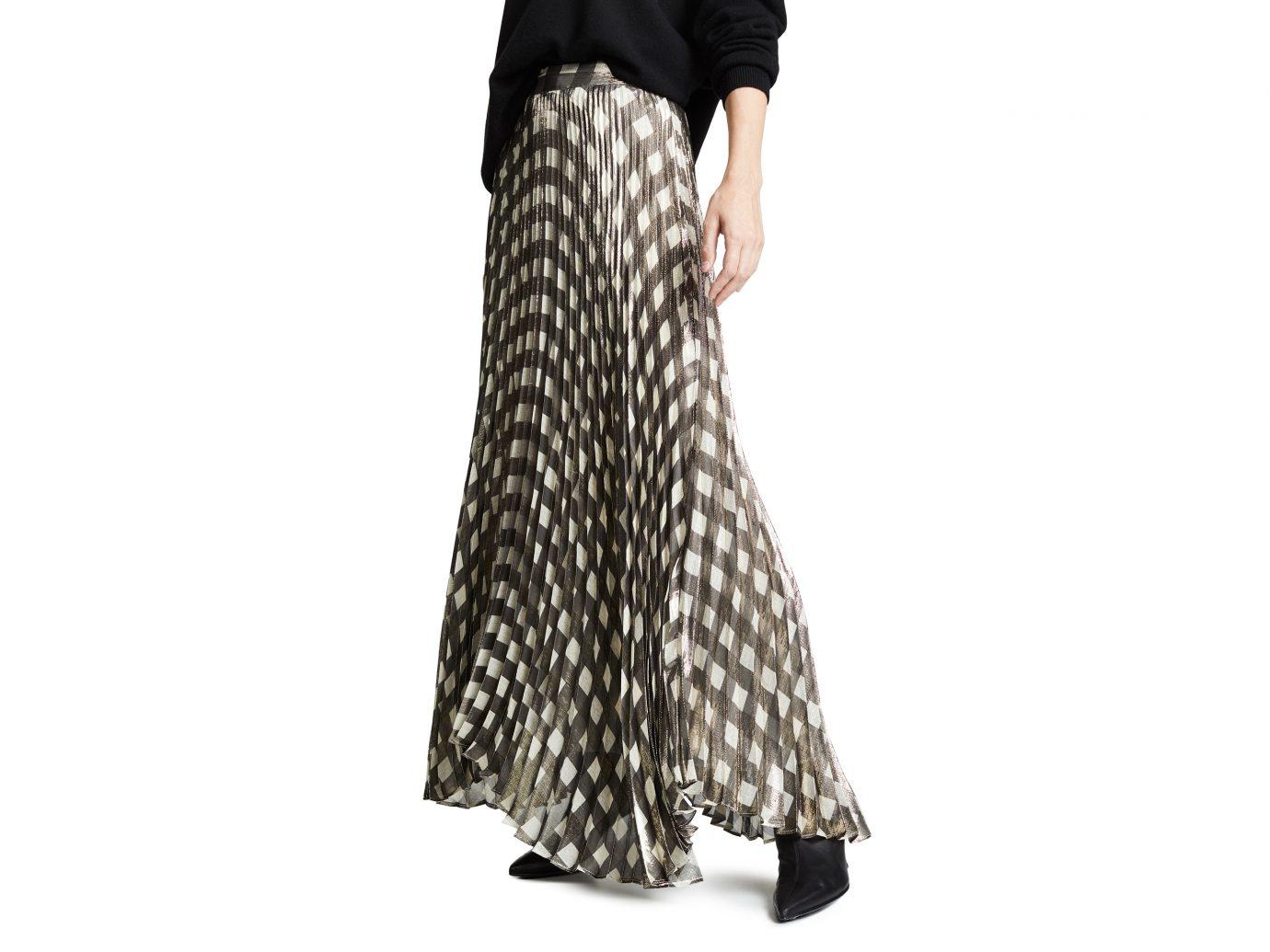 Alice + Olivia Katz Pleated Maxi Skirt