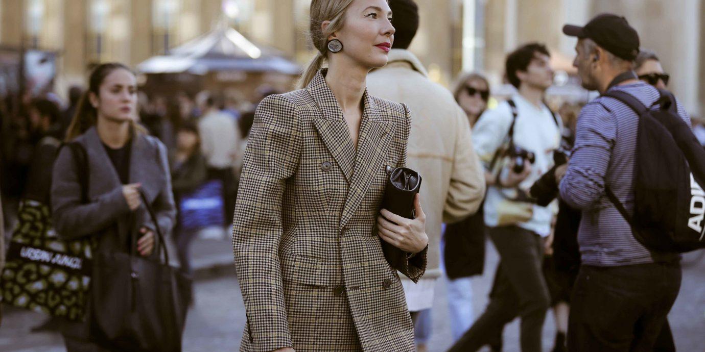 fall jackets, fashionable woman in blazer