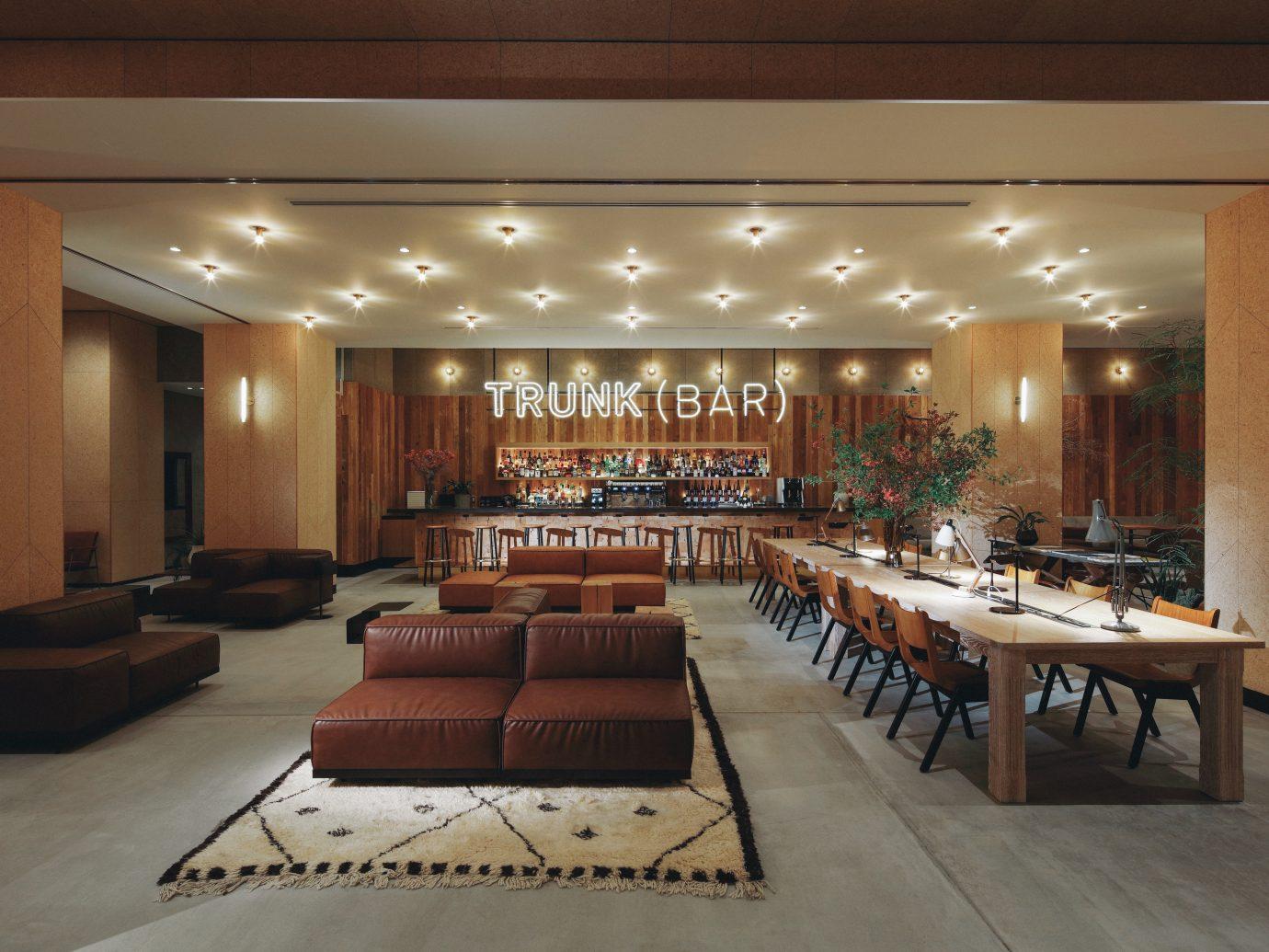 Bar area at the Trunk Hotel in Shibuya