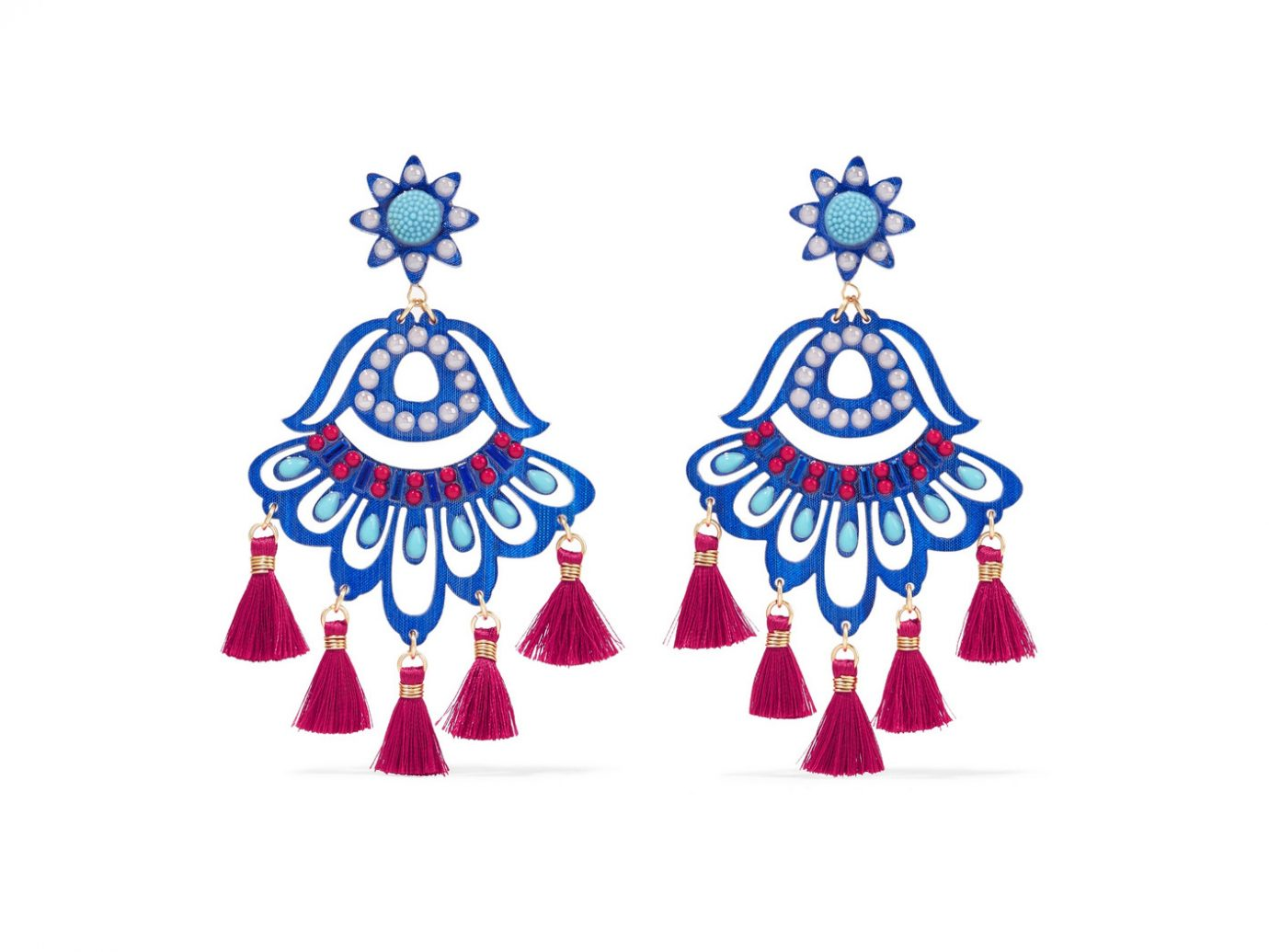 Mercedes Salazar Fiesta Clip earrings