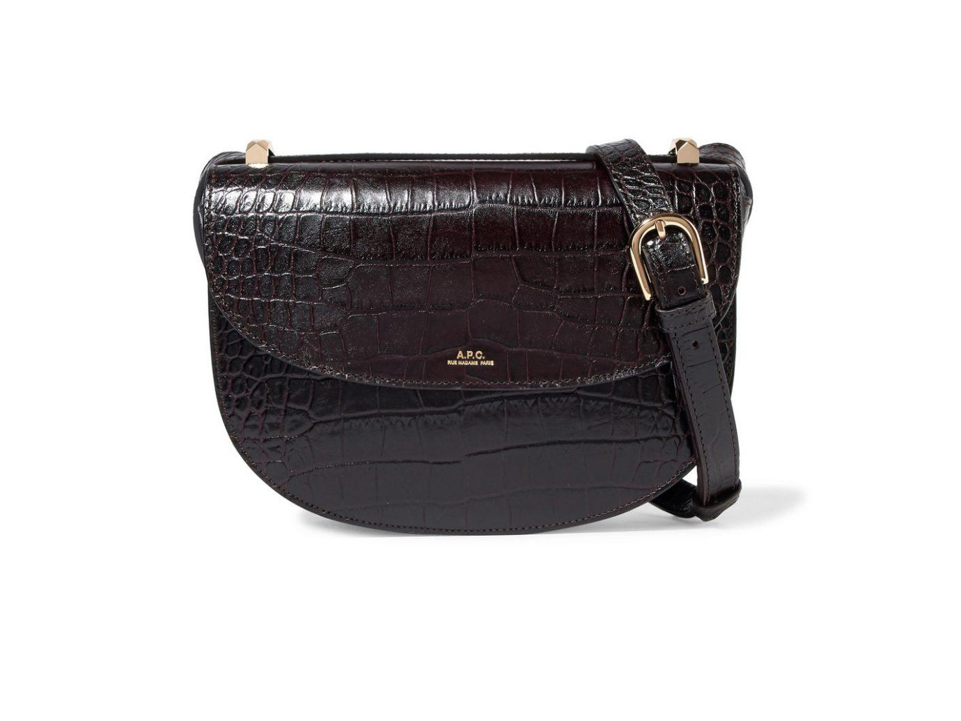 APC Atelier de Production et de Creation Geneve croc-effect leather shoulder bag