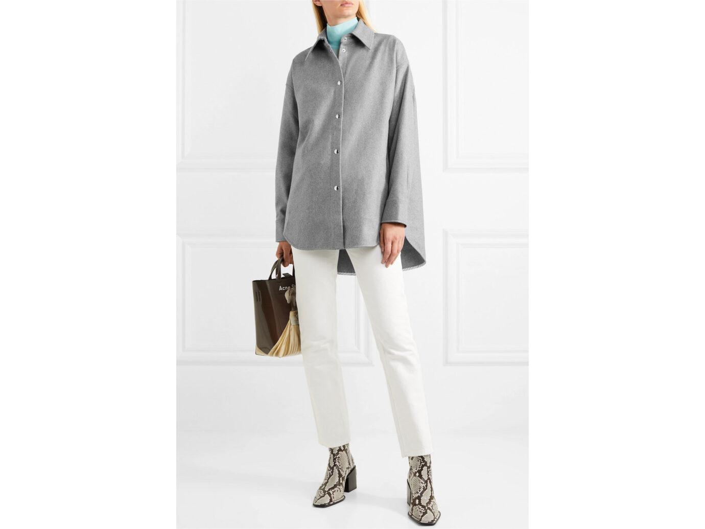 Acne Studios Sarwin oversized wool-blend flannel shirt