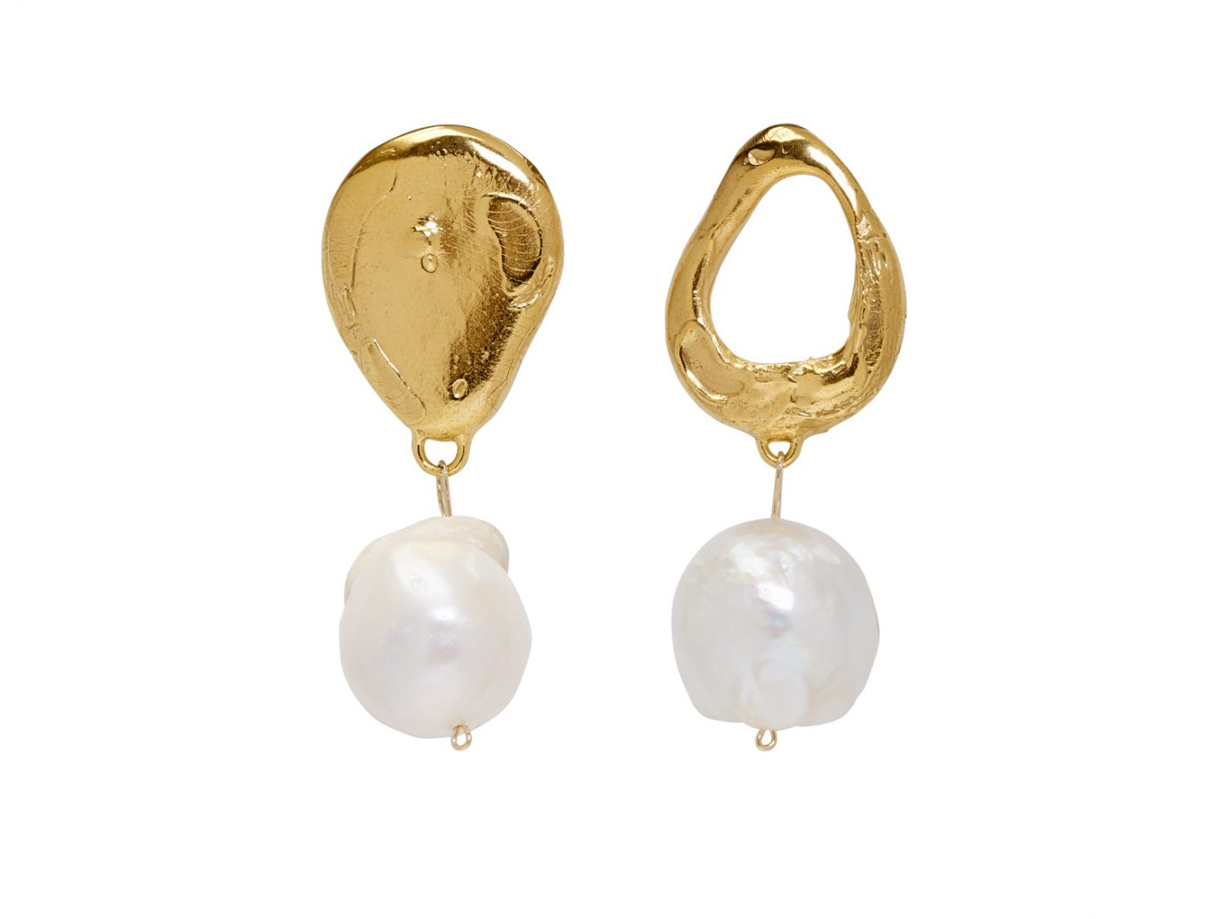 Alighieri Gold The Infernal Storm Pearl Earrings