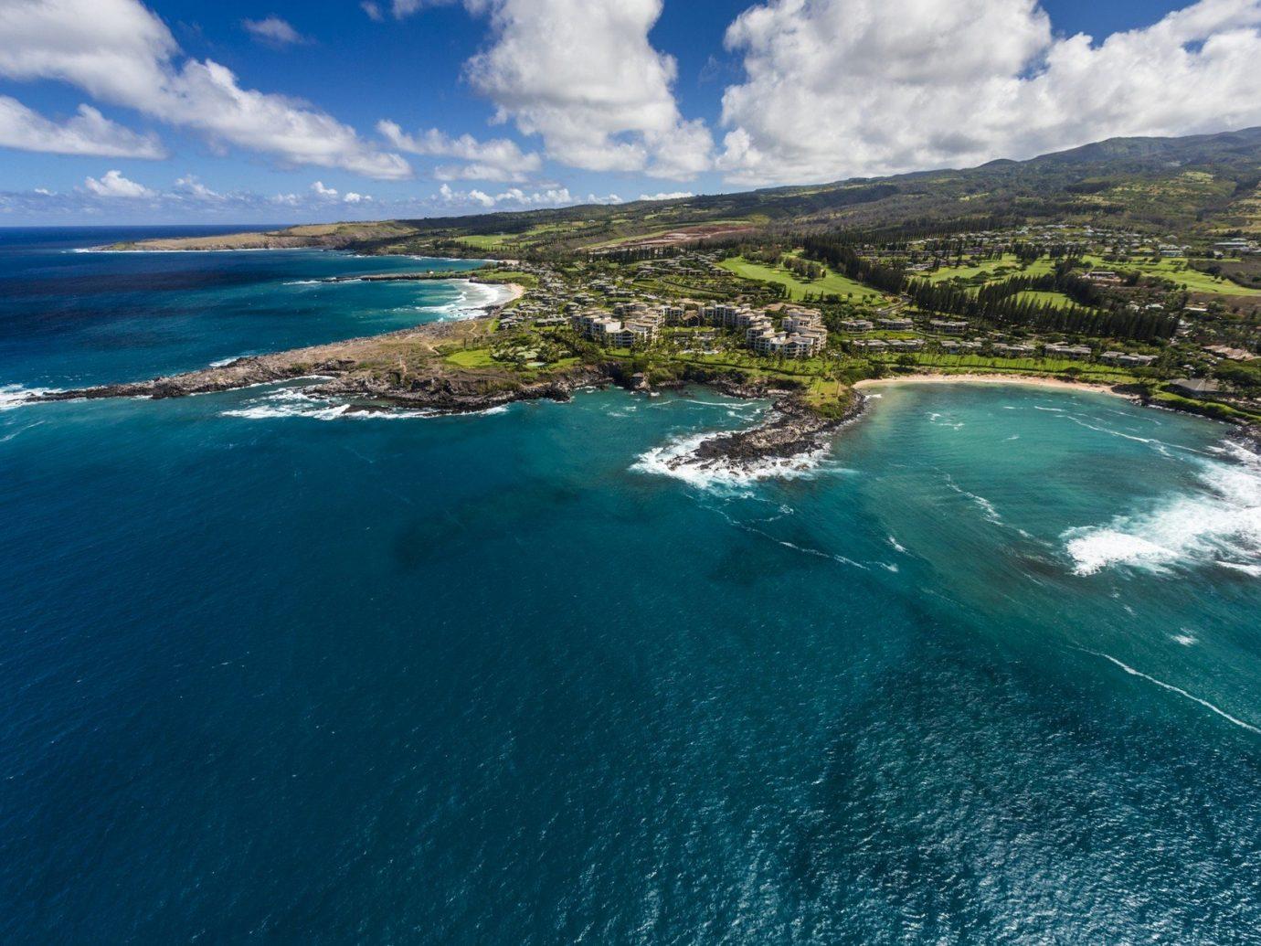 Aerial shot of Maui