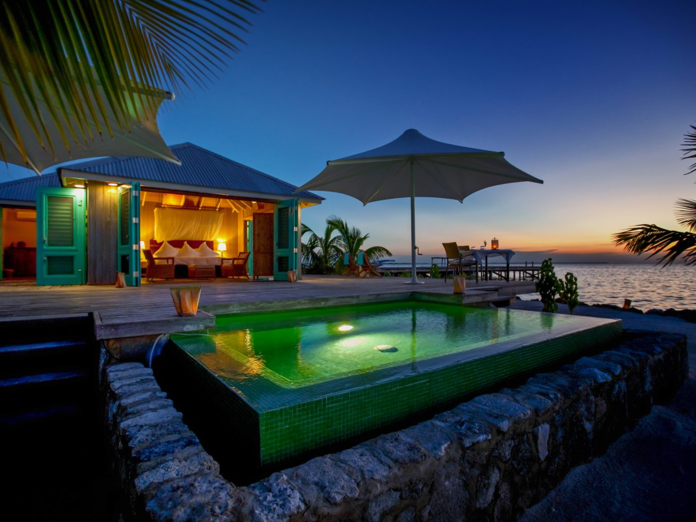 Pool at Cayo Espanto