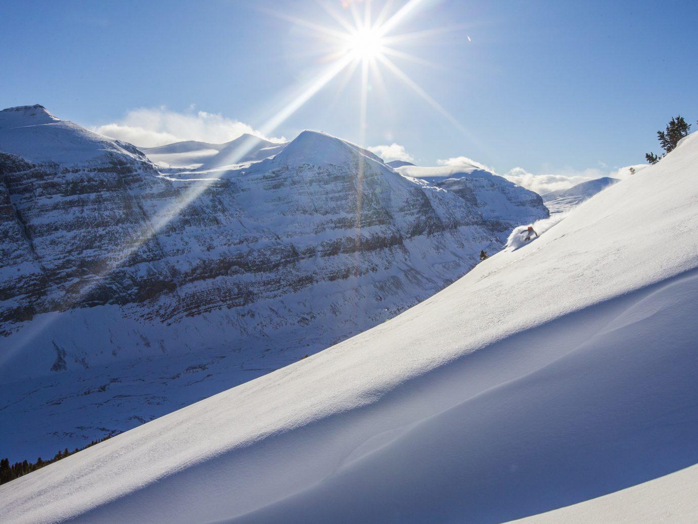 Ski slope on Mt. Norquay