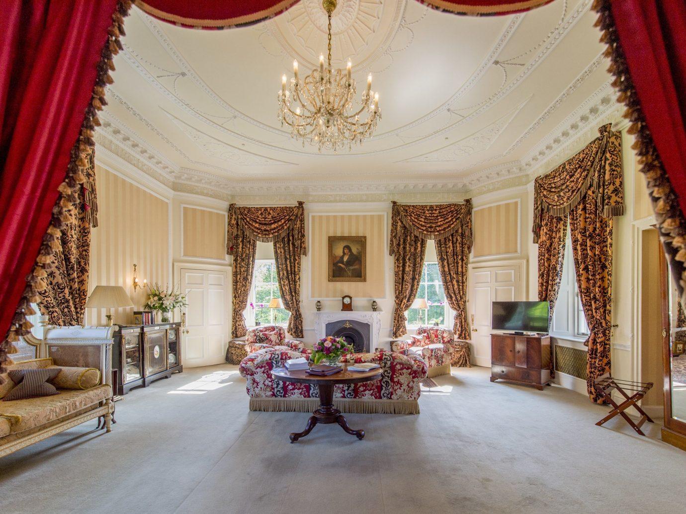 Living room at Glenapp Castle