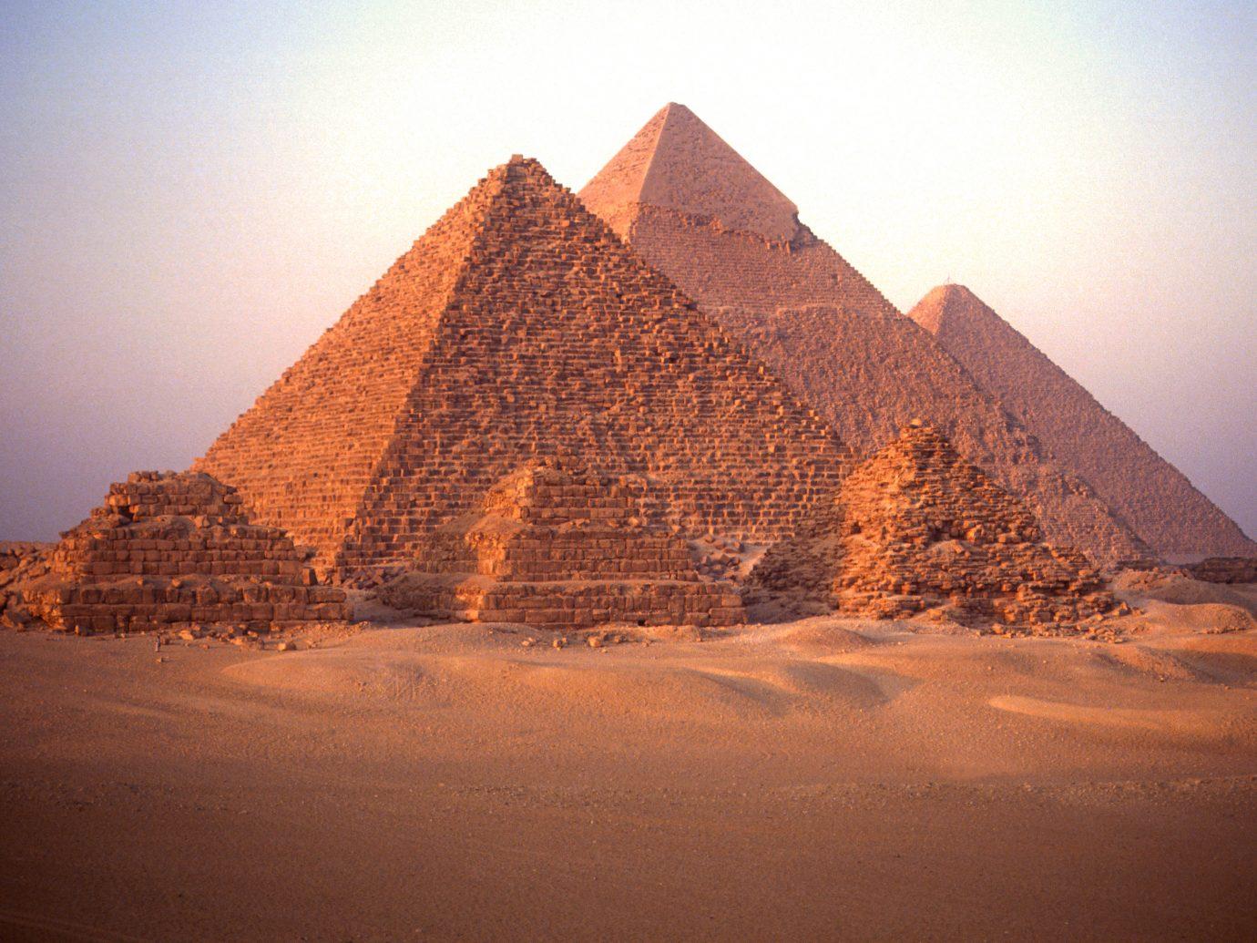 Six Pyramids of Giza Egypt.