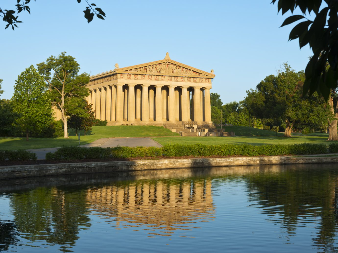 """""""Facade of the Parthenon in Nashville, Tennesse, in warm morning lightMore images from Nashville:"""""""