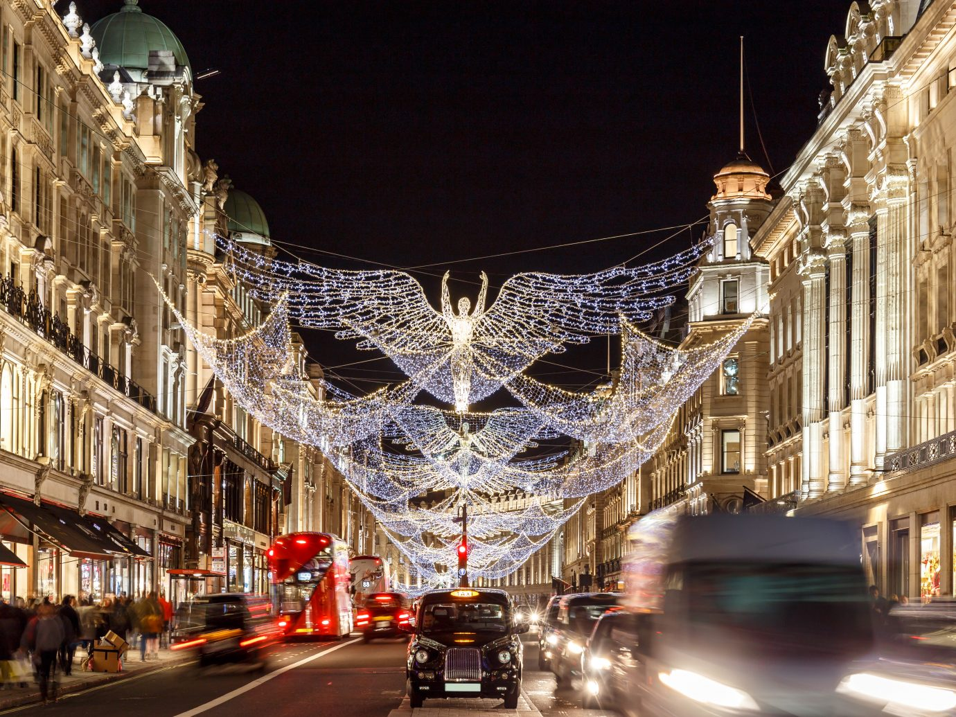 Christmas lights 2016 in Mayfair, London, England