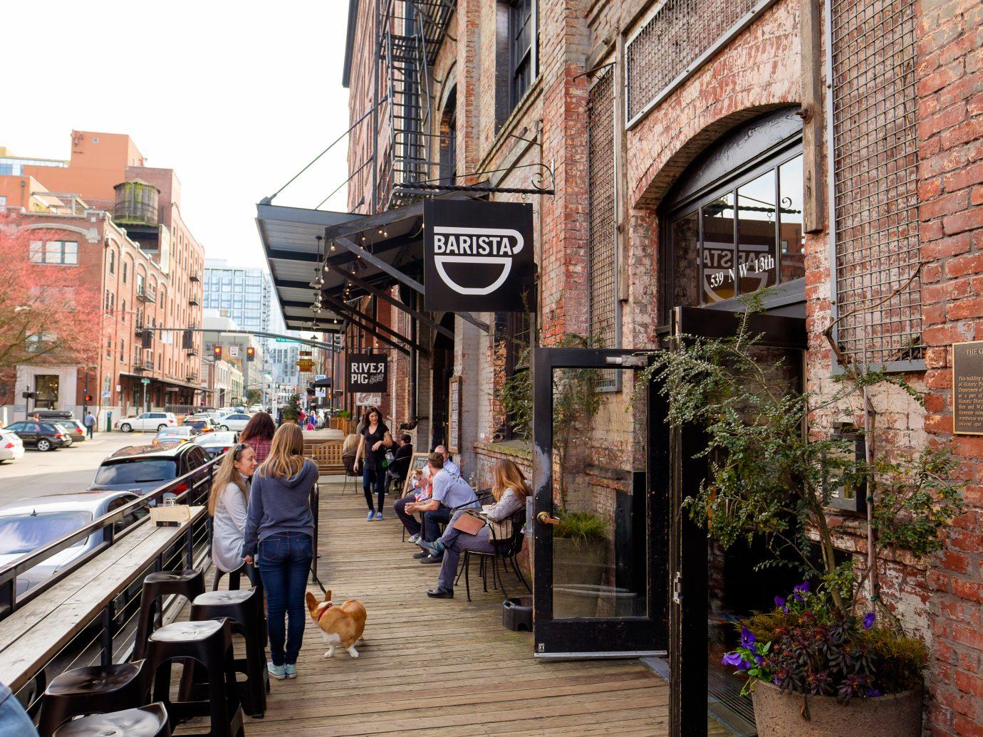 Barista coffee shop in the Pearl District of Portland Oregon.