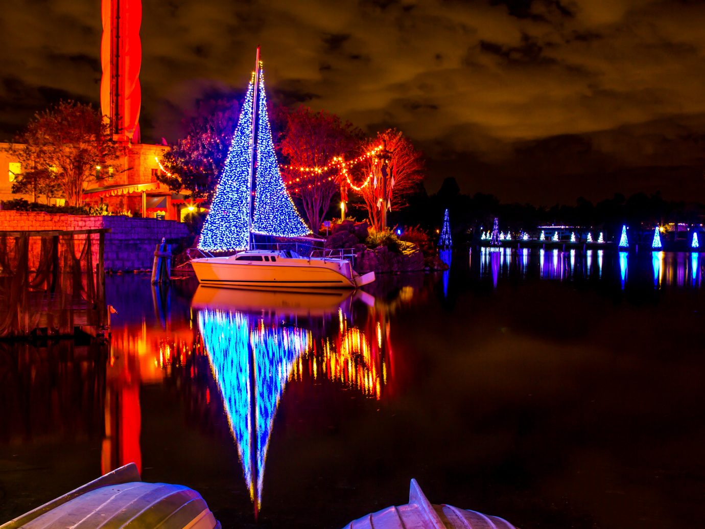 Christmas Lights on a boat in Florida