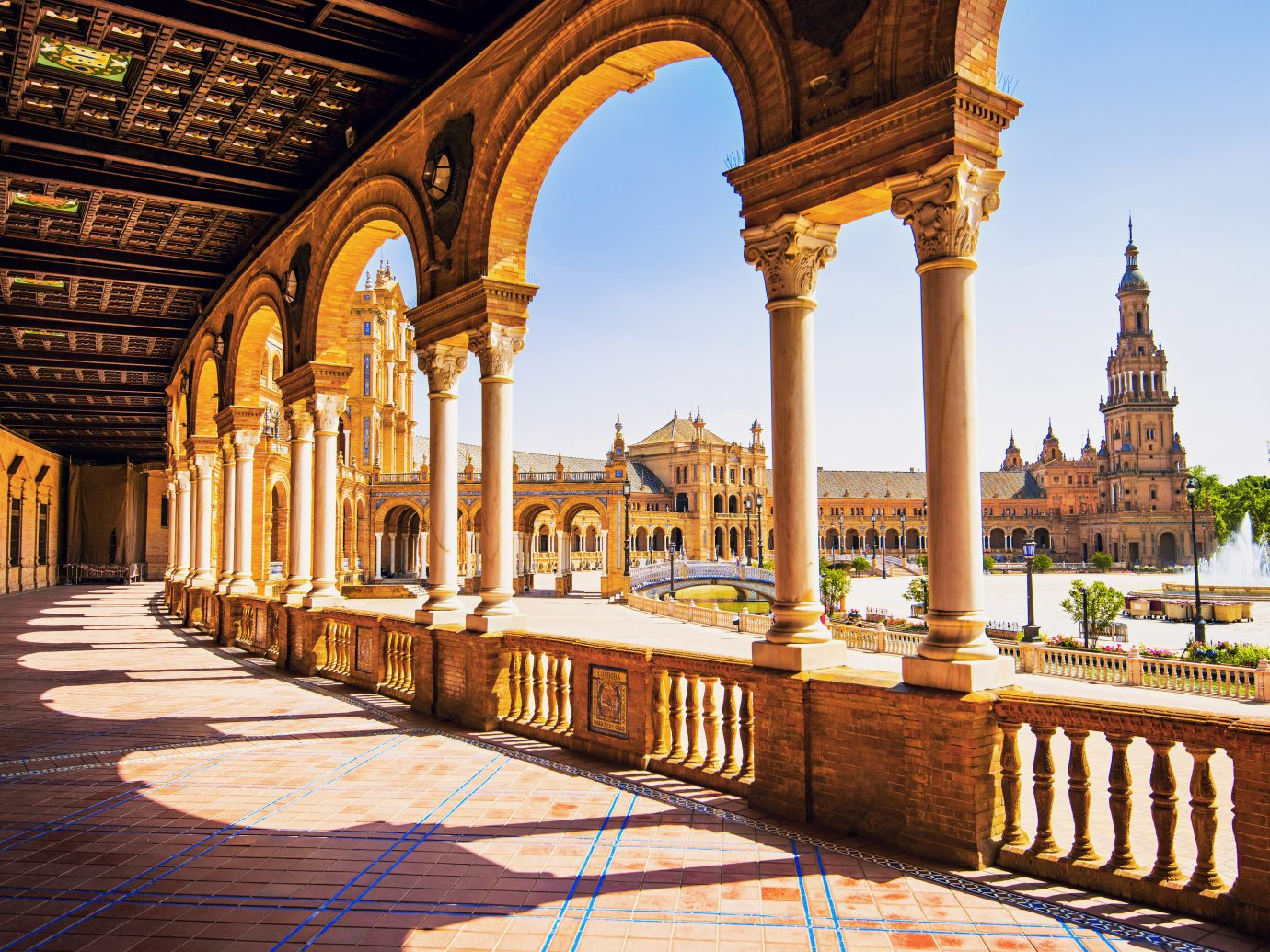 Plaza de Espana in Seville, Andalusia, Spain
